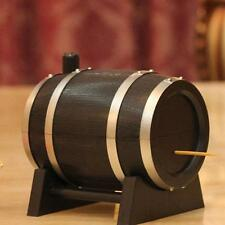 Restaurant Home Wine Barrel Shaped Automatic Toothpick Box Holder 1pcs