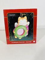 Carlton Cards Granddaughter Christmas Holiday Ornament 2000 Cat Kitten Angel