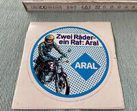 Aufkleber ARAL Zwei Räder - ein Rat: Aral Autocollant