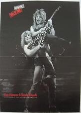 Ozzy Osbourne Lifting Randy Rhoads/Guitar-Photo:Paul Natkin-Vtg Poster Art Print