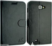 FOR SAMSUNG GALAXY NOTE 1 I9220 N7000 LEATHER CASE WALLET POUCH BACK SKIN COVER