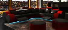 Ecksofa Sofa Couch Polster Wohnlandschaft Leder Eck Sofas Garnitur L Form Madrid
