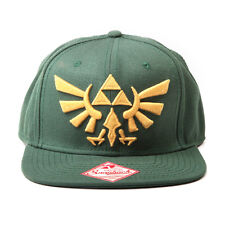 AWESOME THE LEGEND OF ZELDA TRIFORCE SYMBOL GREEN SNAPBACK CAP HAT *BRAND NEW*