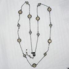 "38″-41″ Lia Sophia Jewelry ""Jody"" Hematite Tone With Cut Crystals Long Necklace"