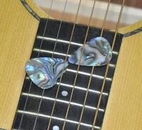 100 pcs 0.71mm Medium Blank Guitar Picks Plectrums Celluloid No Print Abalone