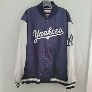 Mitchell & Ness NY New York Yankees Cooperstown Throwback Satin Jacket Mens 2XL