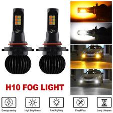 2x 160W H10 9145 9140 LED Fog Light Driving Bulbs White+Amber Yellow Dual Color