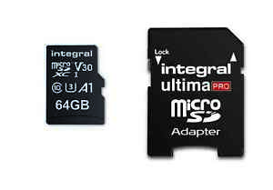 Integral 64GB Micro SD Card SDHC Memory Card Class 10 Ultra Fast Speed 100MB/s