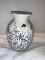 "Hand-Thrown Signed TAIN SCOTLAND Art Pottery Studio Vase Handpainted 6"""