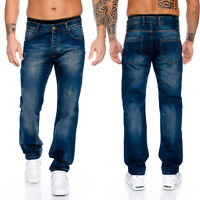 Rock Creek Designer Herren Jeans Hose Straight-Cut Gerades Bein Clubwear RC-2102