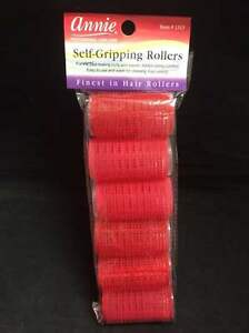 Annie Self Gripping Rollers 11/4'' 6 count Red #1313