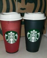 NEW 2x Starbucks Color Changing hot Cups Green to Red Holiday 2020 FAST SHIPPING