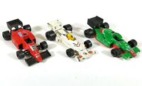 3 x Majorette F1 Racing Car White Green Red Vintage Diecast France D203
