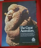 Pure New Wool - The Great Australian - 1967 Vintage Advertisement