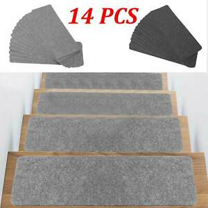14Pcs Stair Tread Carpet Mats Step Staircase Non Slip Mat Protection Cover