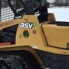 Pair of ASV Decals Stickers ASV Compact Tracked Loader