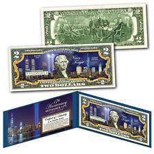 WORLD TRADE CENTER FREEDOM TOWER Night 9/11 WTC * 17th ANNIVERSARY * US $2 Bill