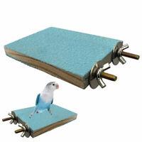 For Pet Bird Durable Supplies Paw Grinding Perch Platform Stand Parrot Wooden