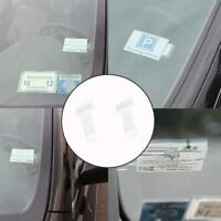 2Pcs Car Vehicle Accessory Parking Ticket Permit Card-Ticket Holder-Clip-Sticker