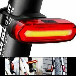 2 LED Rojo Bicicleta Bici Solar Energía Recargable Cola Trasero Luz Flash Luz UK