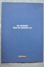 Dynaudio catalogue, 4 pages, de 1993,die vérité sur l'audience 50