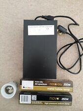 HPS/MH lamp kit 250W Control Gear ballast+Bulbs+E27 Socket Bulb holder+reflector