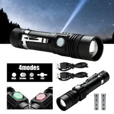 2x Taschenlampe 80000LM inkl Power Akku Taktisches klein USB LED Akku Swat Zoom
