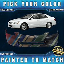 NEW Painted To Match - Front Bumper Cover Replacement For 2003-2005 Honda Accord