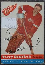 1954-55 DETROIT RED WINGS - TERRY SAWCHUK - #58 - First Year Topps TCG - NCC
