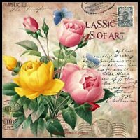 Classic Vintage Flower 4 - Counted Cross Stitch Patterns Chart Needlework