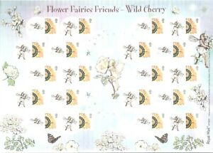 GB 2009 SMILER SHEET LS61 FLOWER FAIRIES FRIENDS WILD CHERRY MINT
