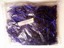 Vtg 1/4  KILO! SILVER LINED COBALT BLUE BUGLE GLASS BEADS 30 mm #052311g