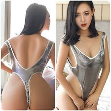 Women Lingerie Bodysuit High Cut Leotard Thong One Piece Swimwear Nightwear