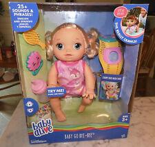 Original Gift Baby Alive Go Bye Bye Doll crawl Drink Talk Watch rattle tickles