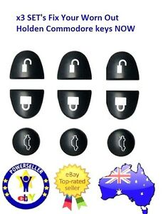 Holden Commodore Remote Buttons X3 SETS  VS VT VX VY VZ WH WK WL