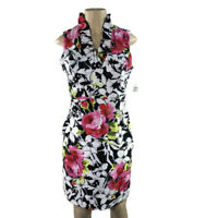 Ronni Nicole Dress size 8 white black pink floral sheath formal party new