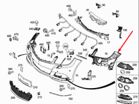 MERCEDES-BENZ C-CLASS W204 Front Bumper Right Bracket A2048854265 New Genuine