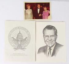 "Nixon 1968 Inauguration Lithoprint Portrait Limited Edition 7""X 5.5"" W/Photo"
