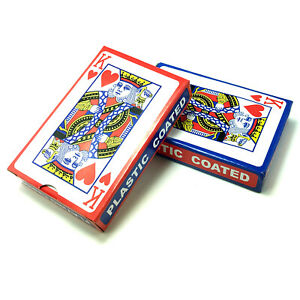 2x 54 Blatt Spielkarten Set (Rot & Blau) Kartenspiel Poker Canasta Bridge Skat