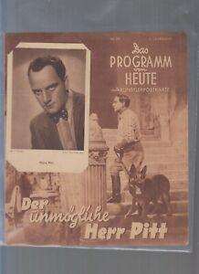 2 verschiedene Harry Piel - Das Programm von Heute - mit Künstlerpostkarte - PVH