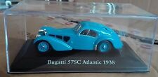 "STERBEN CAST "" BUGATTI 57SC ATLANTIC - 1938 "" SKALA 1/43 ATLAS EDITION"