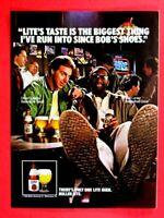 "Dave Cowens Bob Lanier Natural Light 1987 Original Print Ad 8.5 x 11"""