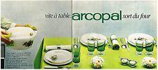 Publicité Advertising 1968 (2 pages) Service de table plat assiettes Arcopal