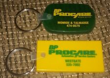 Lot of 2 Toledo Ohio keychain Keyring BP Oil Procare Auto Service GAS STATION