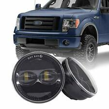 Fit For Ford 2010-2011 F-150 4.5 Inch Round Fog Lights LED Fog Lamp Smoke Lens