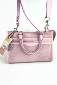 Authentic Rebecca Minkoff Micro Bedford Zip Light Orchid Suede Satchel--NWT $228