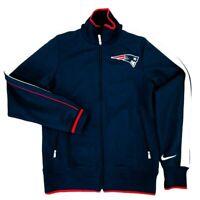 Nike On Field New England Patriots Jacket Navy Blue Mens Size S NFL Football