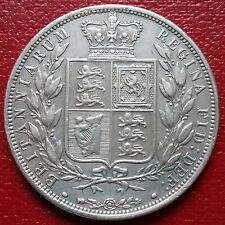 1883 HALF CROWN. NICE GRADE. VICTORIA BRITISH SILVER COINS.