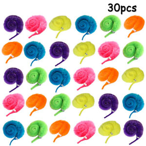 30Pcs Colorful Magic Worm Wiggly Twisty Vivid Toys Carnival Party Show Favors UK