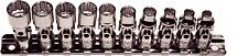 "10 Piece 1/4""Drive Metric Universal Sockets T&E Tools 92810"